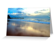 Night Fall - Warriewood Beach - The HDR Series Greeting Card