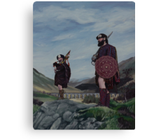 Jacobite Highlanders at Glenfinnan viaduct Canvas Print