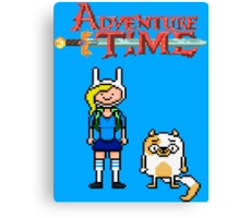 ADVENTURE TIME WITH FIONNA AND CAKE  Canvas Print