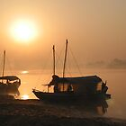 Ganges Sunrise by Jeff Barnard