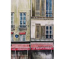 French Cafe Photographic Print