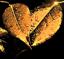 Golden Bronze Crystal Leaves by moonshinepdise