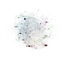 Programming Languages Influence Network 2014 Full Poster Photographic Print