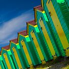 Beach Huts Series 14 by Amanda White