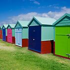 Beach Hut Series 16 by Amanda White