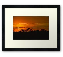Retreating to the Everglades Framed Print