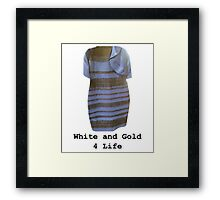 White and Gold 4 Life Framed Print