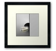 White boat Framed Print