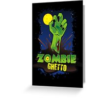 ZOMBIE GHETTO OFFICIAL LOGO DESIGN T-SHIRT Greeting Card