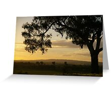 Morans lookout rural scape 2014 Greeting Card