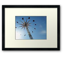 Aerial Swing Ride Luna Park Framed Print