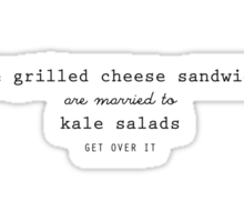 Grilled Cheese and Kale - Swan Queen (Black) Sticker