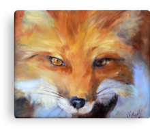 FOX from original oil painting by Madeleine Kelly Canvas Print