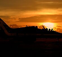 Scampton Sunset  by J Biggadike