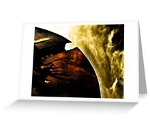 Burning Halo Greeting Card