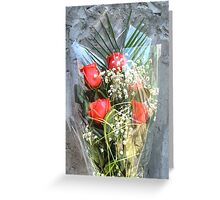 Bouquet with red roses 6 Greeting Card