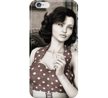 Vintage Woman iPhone Case/Skin