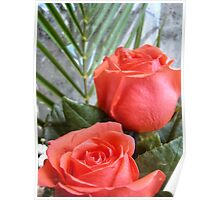 Bouquet with red roses 9 Poster