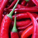 Hot chili peppers by Klaus Offermann