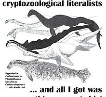 Cryptozoological literalism - we love it! by TetZoo