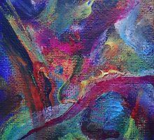"""Autumn River"" original artwork by Laura Tozer"