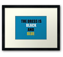 #TheDress - Black/Blue and White/Gold  Framed Print