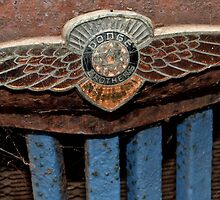 Old Dodge Truck Badge by Karen Stackpole