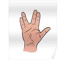 Live Long and Prosper Hand Sign Poster