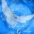 Season's Greeting Dove-Christmas Card by William Martin