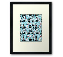 bright pattern cat lovers Framed Print