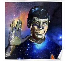 """Into The Darkness"" LLAP Leonard Nimoy, Spock, Star Trek Poster"