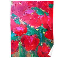 Roses For You Leggings by Susi Franco Poster