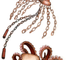 Steampunk Cephalopods Sticker