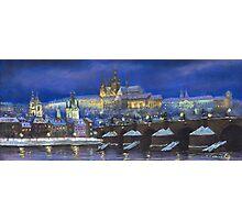 The Prague Panorama Charles Bridge Prague Castle Photographic Print