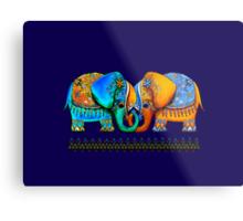 Littlest Elephant Love Links Metal Print