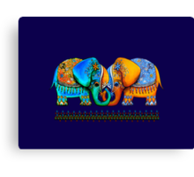Littlest Elephant Love Links Canvas Print