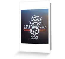 Ford V8 Greeting Card