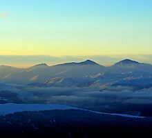 Ben More and Stob Binnein from Ben Vorlich above Loch Earn by photobymdavey