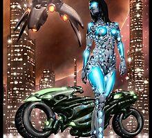 Cyberpunk Painting 047 by Ian Sokoliwski
