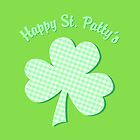 Green Gingham Pattern Shamrock by ArtVixen
