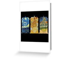 Vincent and The Doctor (Black) Greeting Card