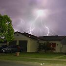 Lightning Stike Over Our House by Jason Fewins