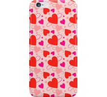 Hearts on the light pink iPhone Case/Skin