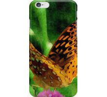 Silky Backyard Butterfly iPhone Case/Skin