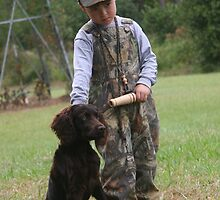 A boy and His Dog by Pamela Kadlec