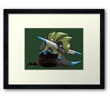 Fraxure Perching on Rocks Framed Print