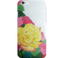 yellow rose with red tips iPhone Case/Skin
