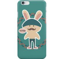 Totes hipster Easter bunny knitted hat skinny jeans iPhone Case/Skin