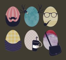Hipster decorated Easter eggs by BigMRanch