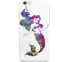Little Mermaid Ariel Watercolor iPhone Case/Skin